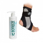Aircast A60 Ankle Support and Biofreeze Gel 473ml (16oz) Saver Pack