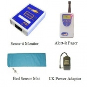 Alert-it Radio Sense-it Monitor System with Pager & Bed Sensor Mat