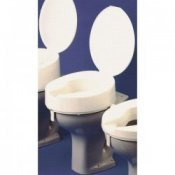 Ashby Raised Toilet Seat 4inch/10cm Deluxe with Lid