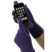 Touchscreen Isotoner Smartouch Gloves in Purple