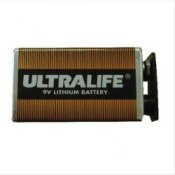 9-Volt Ultralife Lithium Battery
