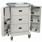 Bristol Maid Double Door Three Drawer Dispensing Trolley