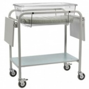 Bristol Maid Fixed Height Perspex Baby Crib