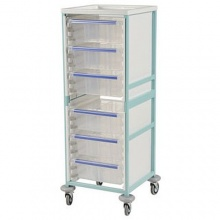 Bristol Maid High Level Single Column Caretray Trolley