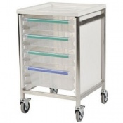 Bristol Maid Low Level Stainless Steel Single Column Caretray Trolley