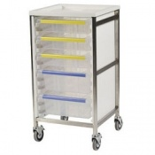 Bristol Maid Stainless Steel Single Column Caretray Trolley