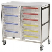 Bristol Maid Stainless Steel Double Column Caretray Trolley