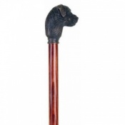 Bronze Effect Border Terrier Walking Stick