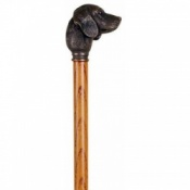 Bronze Effect Golden Retriever Walking Stick