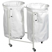 Harvest Double-Bag Linen Trolley
