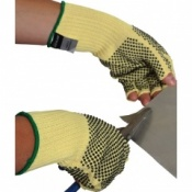 Fingerless Kevlar Dotted Cut Resistant Gloves