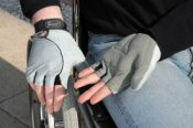 Wheelchair Gloves - Gel Palm - Small