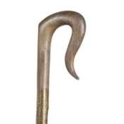 Handcarved Hazel Shepherds Leg Cleek Walking Stick
