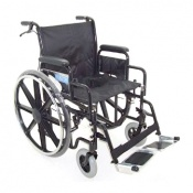 Z-Tec Heavy Duty Extra Wide Seat Self Propelled Steel Wheelchair