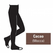 Juzo Attractive 18-21mmHg Cacao Compression Tights with Open Toe