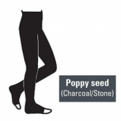 Juzo Attractive 23-32mmHg Poppy Seed Compression Tights with Open Toe