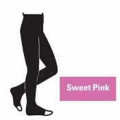 Juzo Attractive 18-21mmHg Sweet Pink Compression Tights with Open Toe