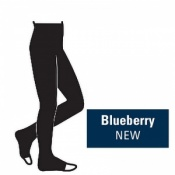 Juzo Attractive 18-21mmHg Blueberry Compression Tights with Open Toe