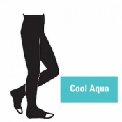 Juzo Attractive 18-21mmHg Cool Aqua Compression Tights with Open Toe