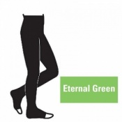 Juzo Attractive 18-21mmHg Eternal Green Compression Tights with Open Toe