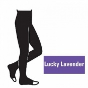 Juzo Attractive 18-21mmHg Lucky Lavender Compression Tights with Open Toe