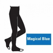 Juzo Attractive 18-21mmHg Magical Blue Compression Tights with Open Toe