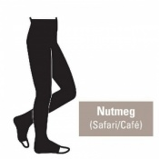 Juzo Attractive 18-21mmHg Nutmeg Compression Tights with Open Toe