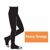 Juzo Attractive 18-21mmHg Fancy Orange Compression Tights with Open Toe