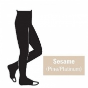 Juzo Attractive 23-32mmHg Sesame Compression Tights with Open Toe