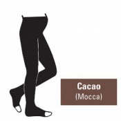 Juzo Attractive 18-21mmHg Cacao Maternity Compression Tights with Open Toe