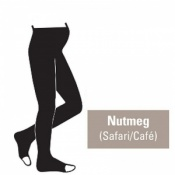 Juzo Attractive 18-21mmHg Nutmeg Maternity Compression Tights with Open Toe