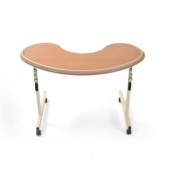 Kidney Shaped Overchair Table