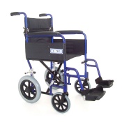 Z-Tec Folding Aluminium Transit Wheelchair in Blue