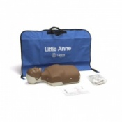 Little Anne Dark Skin CPR Manikin with Softpack