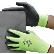 Polyco Matrix Green PU High Cut Resistant Safety Liner Gloves (48 Pairs)