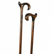 Orthopaedic Scorched Beech Derby Walking Stick