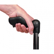 Comfort Grip Cane Adjustable, Small Handle   Black, Right Handed