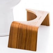Squatty Potty Slim Toilet Stool with Teak Finish
