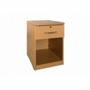 Sunflower Medical Bedside Cabinet with Open Front and Lockable Drawer