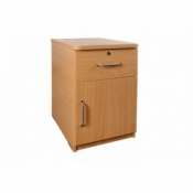 Sunflower Medical Bedside Cabinet with Cupboard and Lockable Drawer