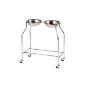 Sunflower Medical Side by Side Double Bowl Stand with 2 Bowls
