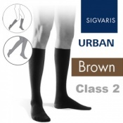Sigvaris Urban Men's Calf Class 2 Brown Compression Stockings