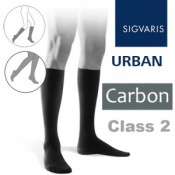 Sigvaris Urban Men's Calf Class 2 Carbon Compression Stockings