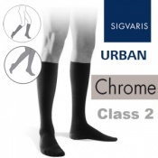 Sigvaris Urban Men's Calf Class 2 Chrome Compression Stockings