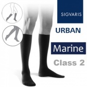 Sigvaris Urban Men's Calf Class 2 Marine (Navy Blue) Compression Stockings