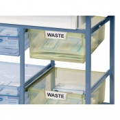 Additional Double Depth Narrow Tray for the Sunflower Medical Ward Drug and Medicine Dispensing Trolleys