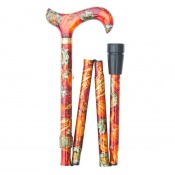 Adjustable Folding Derby Handle Harvest Festival Walking Stick