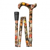 Adjustable Folding National Gallery Bosschaert Derby Handle Walking Cane