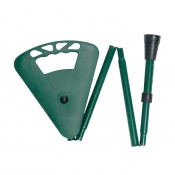 Adjustable Green Foldaway Flipstick Seat Stick