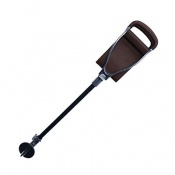 Adjustable Shooting Stick with Extra Large Tan Leather Seat